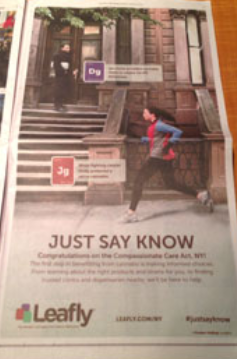 Leafly Marijuana Ad In New York Times