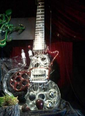 Electric Guitar Glass Bong